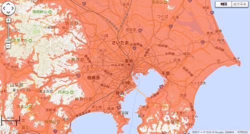 LTEエリア地図