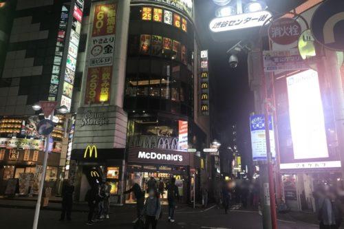 渋谷センター街マクドナルド前