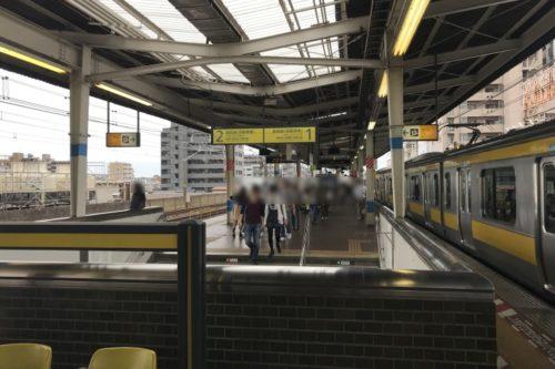 本八幡駅ホーム