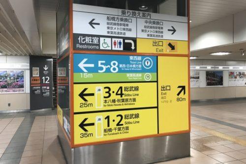 西船橋駅改札内