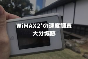 大分城跡WiMAX調査