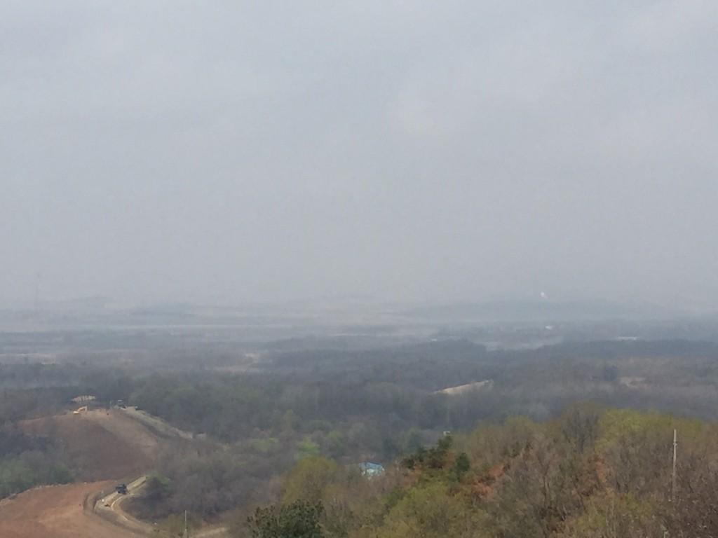北朝鮮が目の前に見える