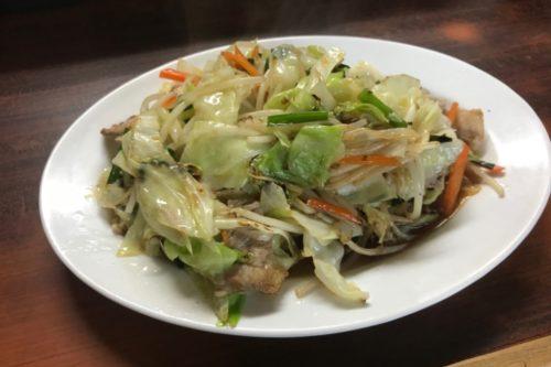 鳥八の野菜炒め