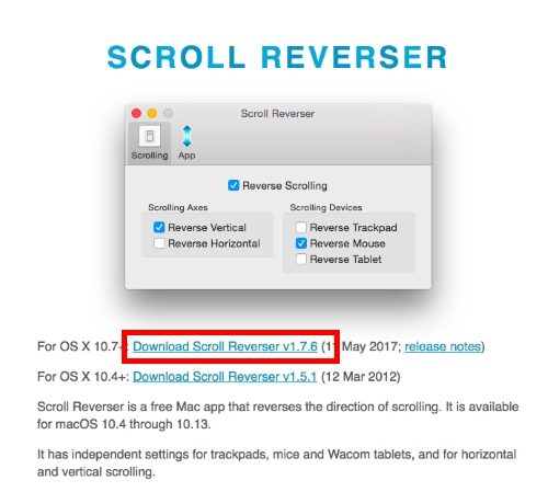 Scroll Reverser for macOS