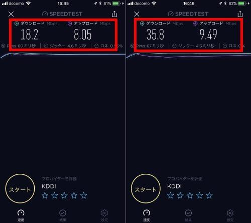 モバイルWiFi接続スピードa