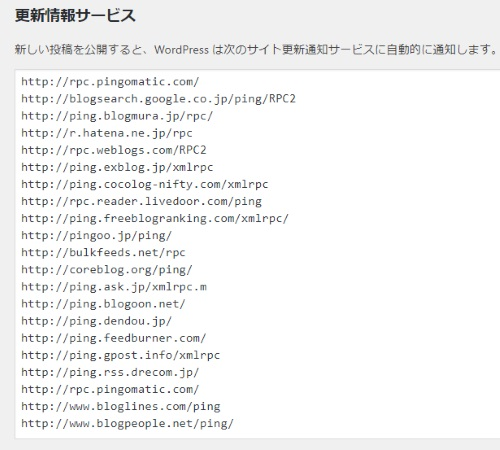 WordPressPING設定