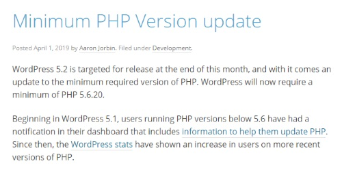 WordPressORG20190401リリース