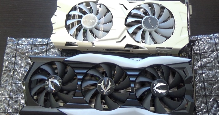 GTX1080とRTX2080の比較