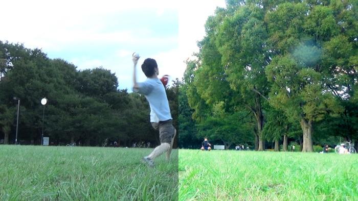 動画の明るさの調整イメージ